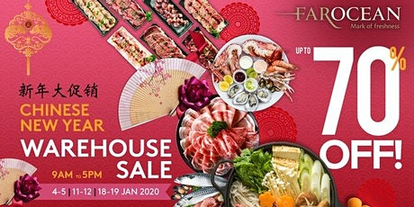 Up to 70% Off at Far Ocean Seafood CNY Warehouse Sale tickets