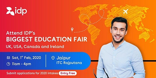 Attend IDP's Education Fair for UK, USA, Canada, NZ & Ireland in Jaipur