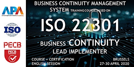ISO/IEC 22301 Business Continuity - Lead Implementer Course and Certifif. tickets