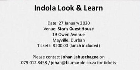 #Indola Look and Learn Seminar tickets