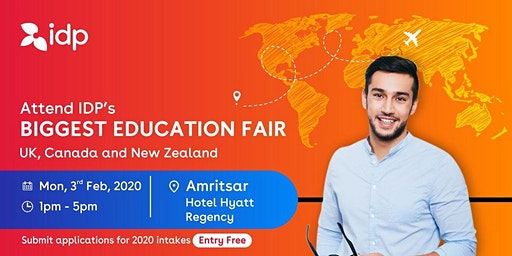 Attend IDP's Education Fair for UK, USA, Canada, NZ & Ireland in Amritsar