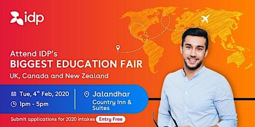 Attend IDP's Education Fair for UK, USA, Canada, NZ & Ireland in Jalandhar