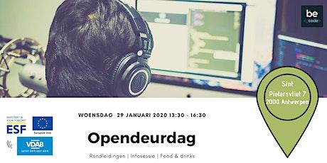 Opendeurdag Becode Antwerpen billets