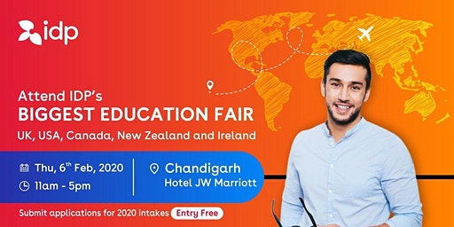 Attend IDP's Education Fair for UK, USA, Canada, NZ & Ireland in Chandigarh