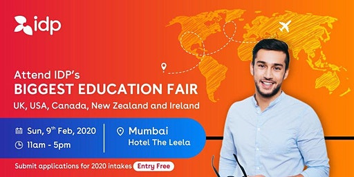 Attend IDP's Education Fair for UK, USA, Canada, NZ & Ireland in Mumbai