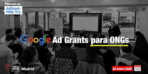 Google Ad Grants para ONG's Madrid