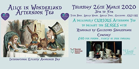 The Meath Epilepsy Charity Alice in Wonderland Afternoon Tea tickets