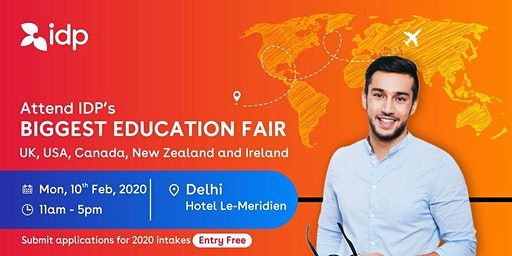 Attend IDP's Education Fair for UK, USA, Canada, NZ & Ireland in Delhi