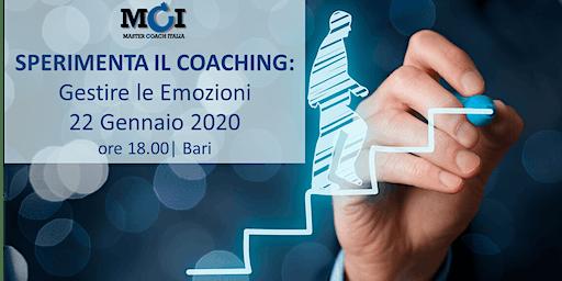 Sperimenta il Coaching: Gestire le Emozioni