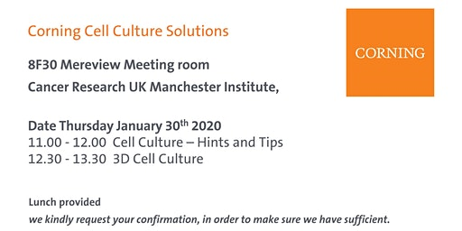 Corning Cell Culture Solutions Lunch & Learn Seminar