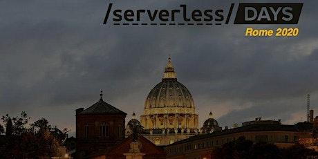 ServerlessDays Rome 2020 biglietti