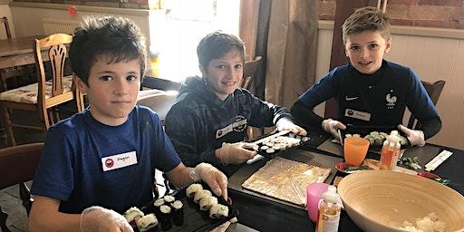 Sushi-making workshop for kids age 6+