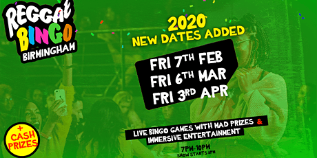 REGGAE BINGO BIRMINGHAM - FRI 6TH MAR tickets