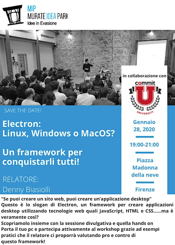 Immagine Electron: Linux, Windows o MacOS?