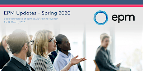 EPM Spring Updates 2020 - Thurrock tickets