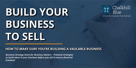 Build Your Business to Sell tickets