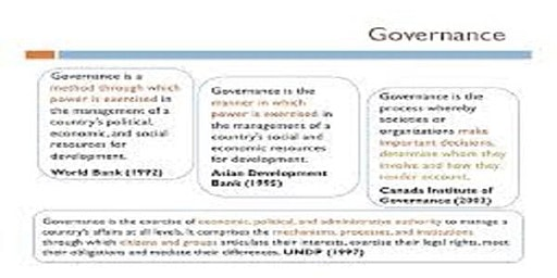 Training Course on Development of Indicators for Effective Governance