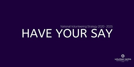 Volunteering Strategy Consultation - Cork tickets