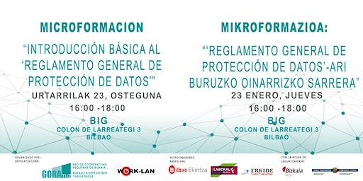 """MIKROFORMAZIOA: """"Reglamento General de Protección de Datos"""""""