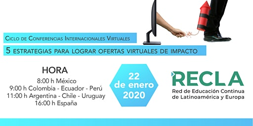 Webinario RECLA - 5 Estrategias para lograr ofertas virtuales de impacto
