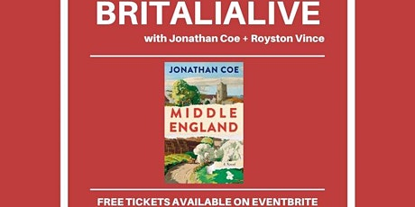 Britalialive with Jonathan Coe tickets