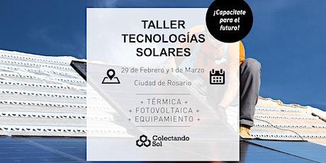 Taller de Tecnologías Solares // Rosario Febrero 2020 entradas