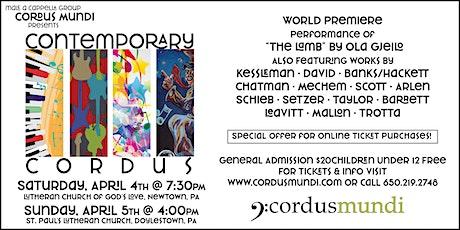 Contemporary Cordus tickets