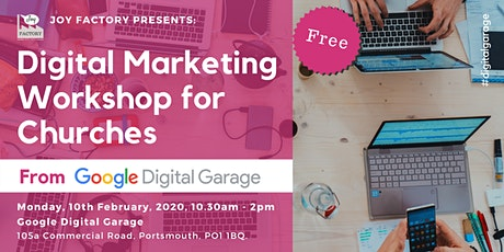 Digital Marketing Workshop for Churches from Google Digital Garage tickets