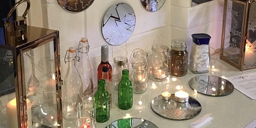 18th April Glass etching workshop (with cake!)