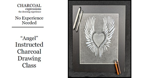 """Charcoal Drawing Event """"Angel"""" in Wisconsin Dells"""