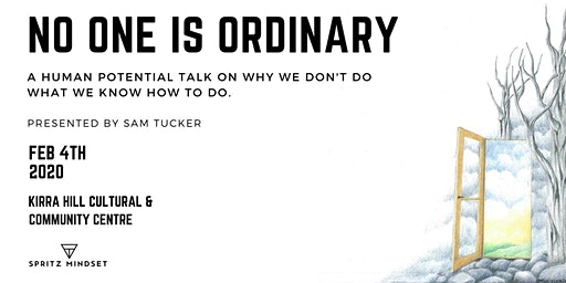 NO ONE IS ORDINARY