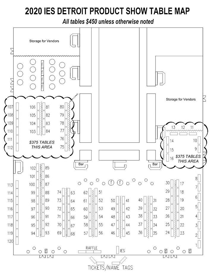 CANCELED - 2020 IES Detroit Product Show - Tables image