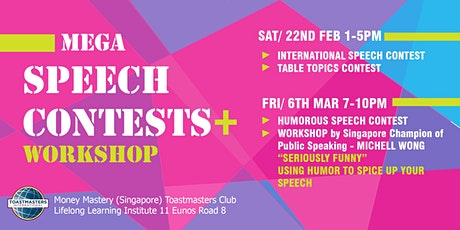 Mega Speech Contests - Learn Public Speaking from the BEST! tickets