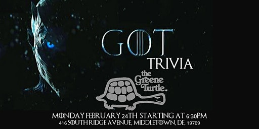 Game of Thrones Trivia at The Greene Turtle Middletown
