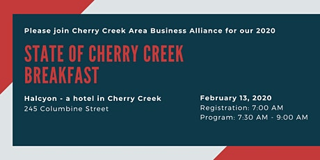 State of Cherry Creek Breakfast - 2020 tickets