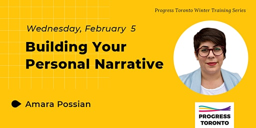 Winter Training Series: Building Your Personal Narrative