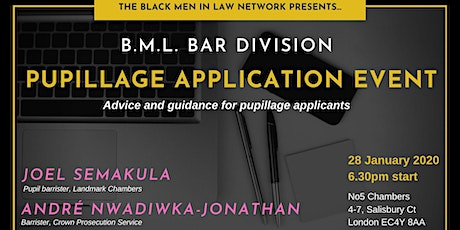 Black Men in Law Bar Division: Pupillage Application Event tickets