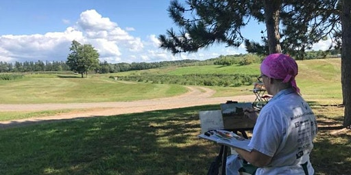 Plein Air Painting at Indian Ladder Farms with Carolyn Hopkins