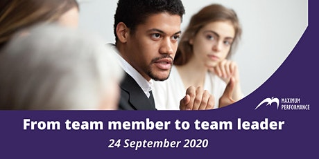 From team member to team leader (24 September 2020) tickets