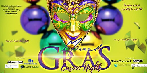 3rd Annual Mardi Gras CASINO NIGHT for the Philadelphia Area Interior Design Community