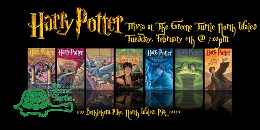 Harry Potter Books Trivia at The Greene Turtle North Wales