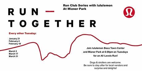 Lululemon Boca Run Club tickets