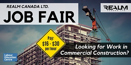 Looking for Work?  Commercial Construction Job Fair - Jan 23rd tickets