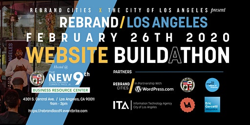 Rebrand Los Angeles: Small Business Website Build-a-thon (Council District 9)