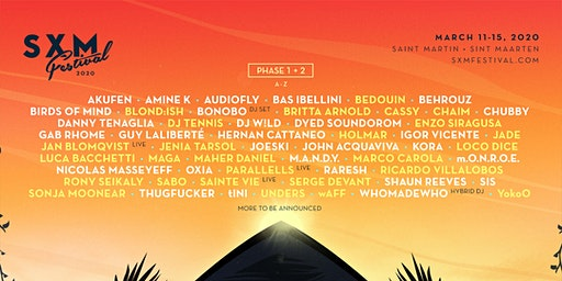SXM Festival March 11-15, 2020