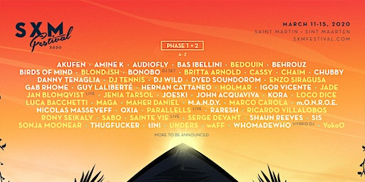 SXM Festival March 11-15, 2020 - CARIBBEAN RESIDENTS ONLY