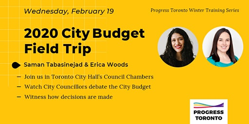Winter Training Series: City Budget Field Trip