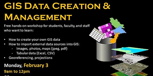 GIS Data Creation & Management (in ArcGIS Pro)--evening session