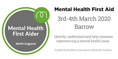 MHFA (Mental Health First Aid) - Barrow tickets