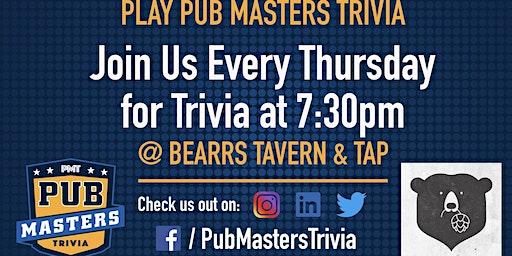 Pub Masters Trivia LIVE at Bearss Tavern and Tap - Tampa!